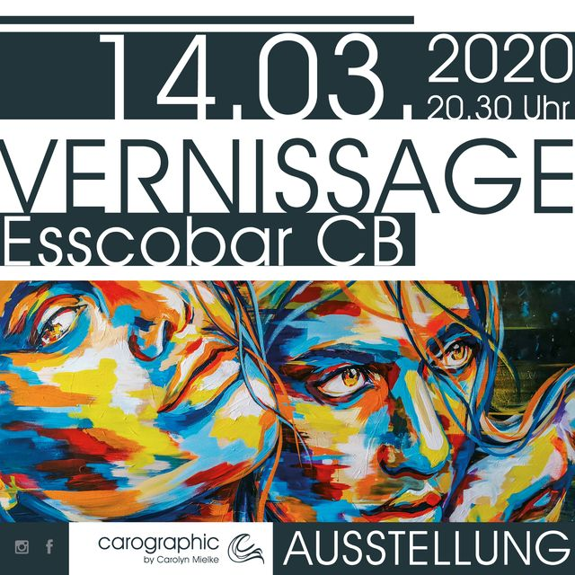 Ausstellung #carographic by Carolyn Mielke - Esscobar Cottbus